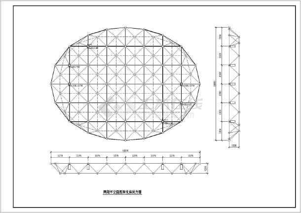 某娱乐场所舞台顶部网架结构设计施工图