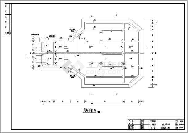 某水利工程雨水泵站结构布置及钢筋图图片
