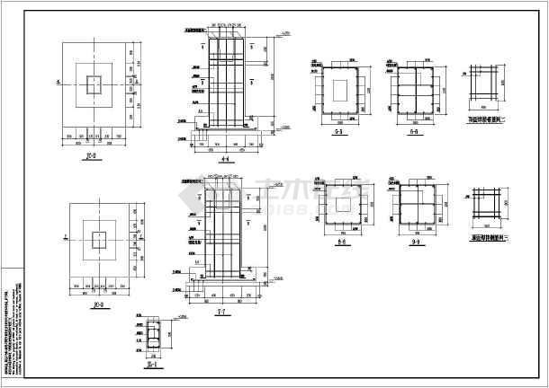 图纸 建筑结构图 钢结构图纸 门式刚架 浙江某三连跨门式钢架厂房结构