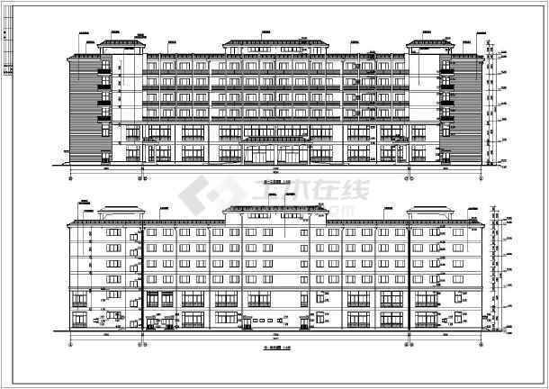 某地六层框架结构宾馆建筑设计施工图