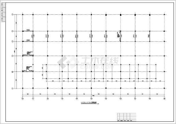 氯酸钠电解厂房门式刚架/框架结构全套结构施工图