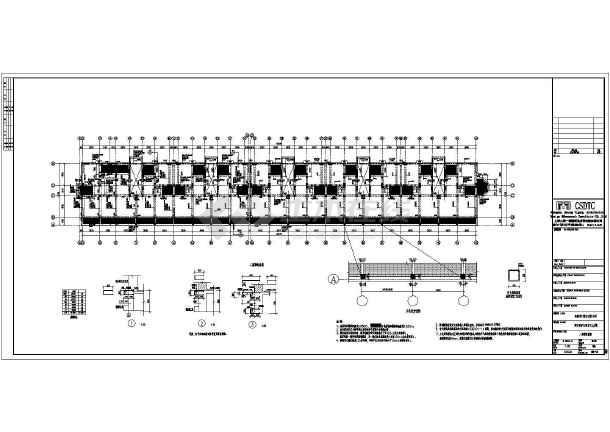 下 0.5m.基础采用柱下条形基础及 基础平面布置图、底层柱、墙结构图片