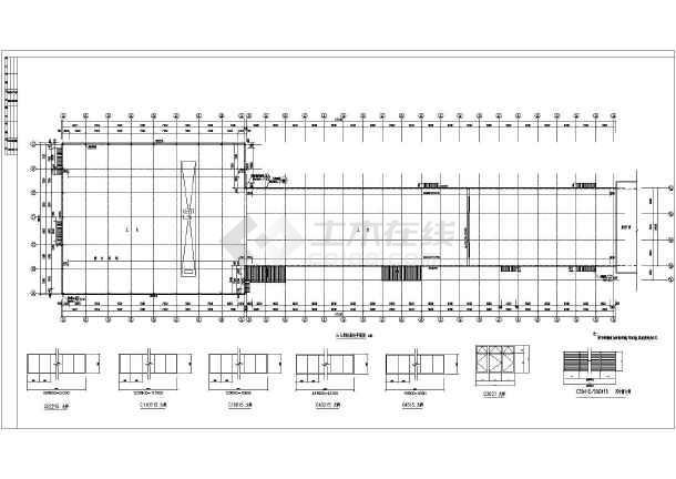 建筑设计施工图,包括,统计表,底层,平面图及窗大样,平面图,屋顶平面图