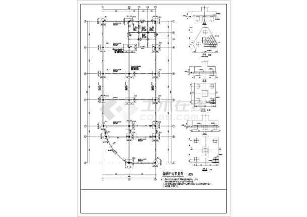某地区商业店面房结构设计施工图纸