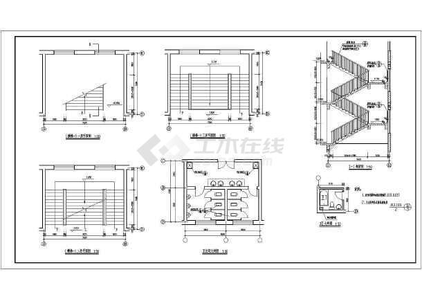图纸 建筑图纸 办公楼设计 欧式办公楼 某地四层砖混结构办公楼建筑
