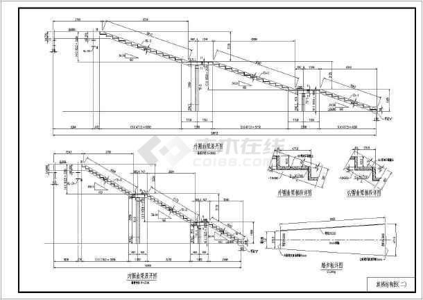 图纸 建筑结构图  结构构造图纸  楼梯电梯构造图  某地钢结构螺旋