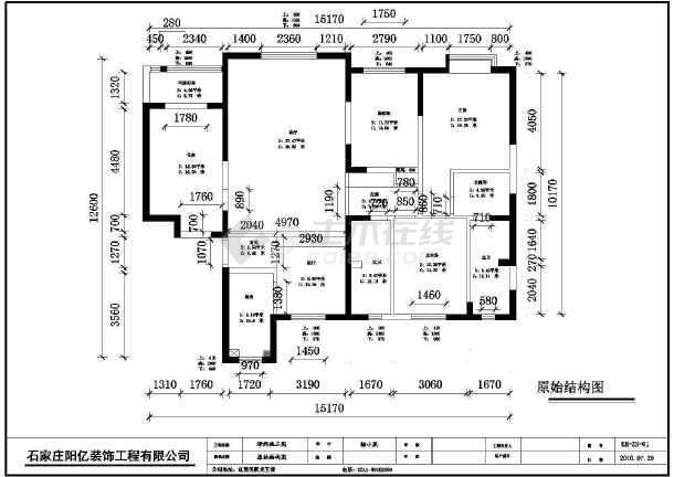 图纸 装修设计 家装设计 三室两厅装修图 石家庄璟郡小区三室两厅两卫