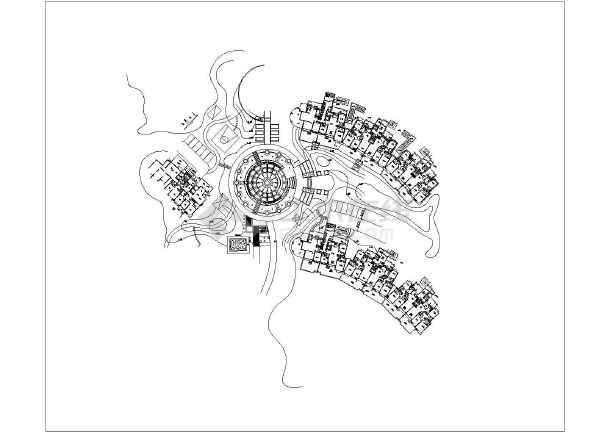 圆形广场铺装设计图