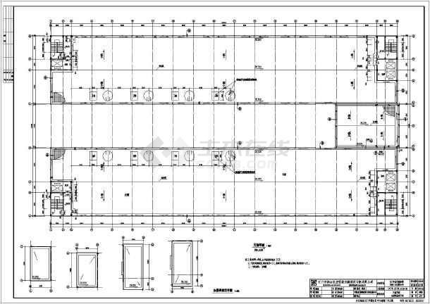 某地四层框架结构电镀车间建筑施工图