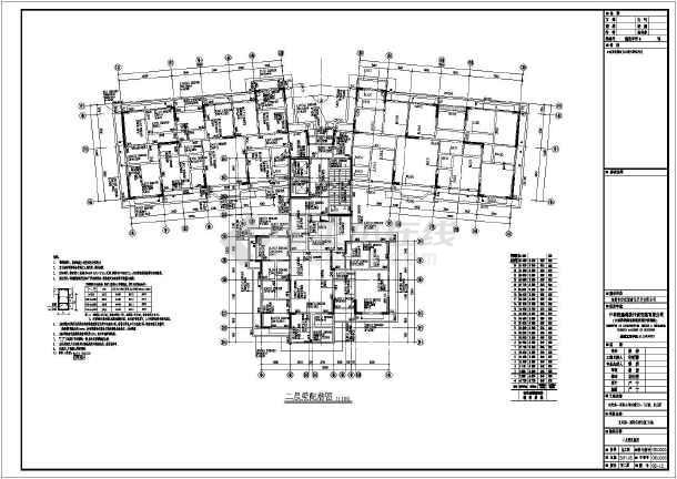 东莞市配筋城25层住宅楼梁板世纪图_cad图纸复合图纸破图片