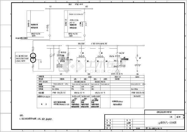 小区变压器高低压供配电设计电气施工图