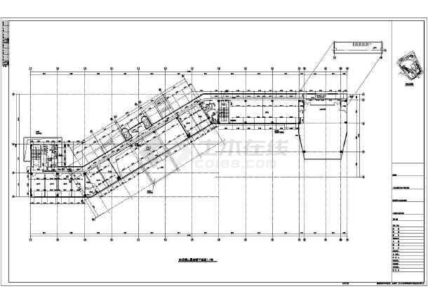 某地6层办公楼给排水自喷平面图系统图