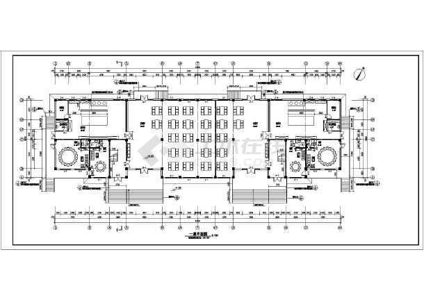某地区两层餐厅综合楼建筑设计方案图纸图片