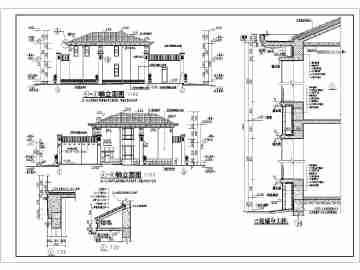 农村二层房屋建筑设计图精华图纸免费下载_co土木在线