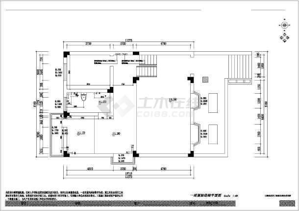 欧式别墅a别墅三层图纸室内装修图(含风格)_ca钢箱梁临时效果墩图片