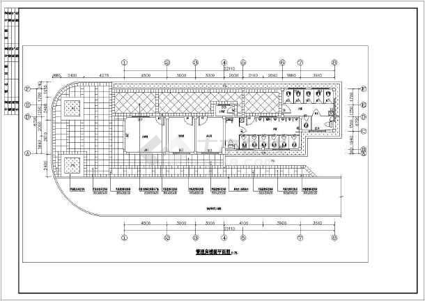 某体育公园管理房框架建筑,结构施工图