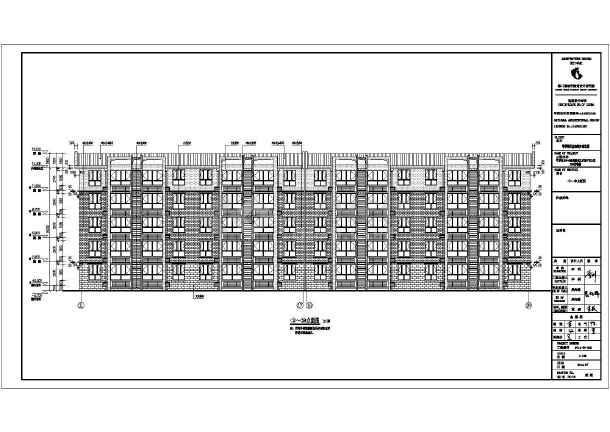 某六层框架结构一梯两户住宅楼建筑施工图