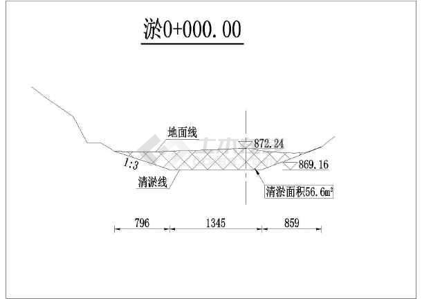 【退稿】阿坝州土门河河道清淤断面图