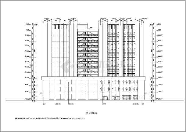 某地12层框架结构加工车间建筑施工图
