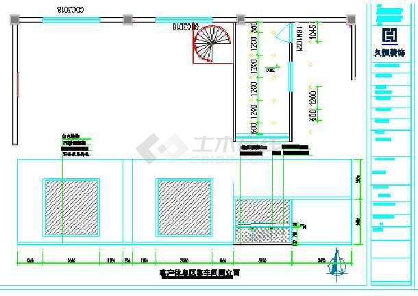 东风标致4s展厅设计装饰装修工程施工图高清图片