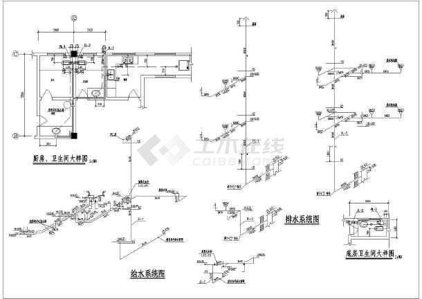 某公寓建筑给排水cad设计施工图-图2