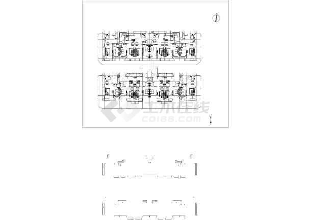仿古建筑合院联排别墅_cad图纸下载-土木v图纸怡景图纸湾的美林湖图片