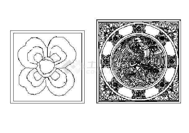 墙面雕花图案大全_cad图纸下载-土木在线