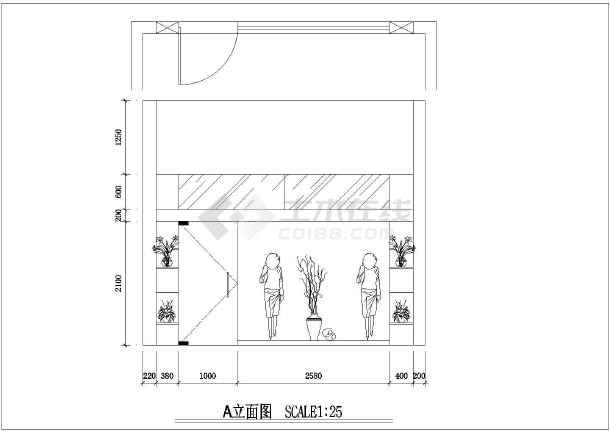 某地一套小服装店的装修设计图(共9张)