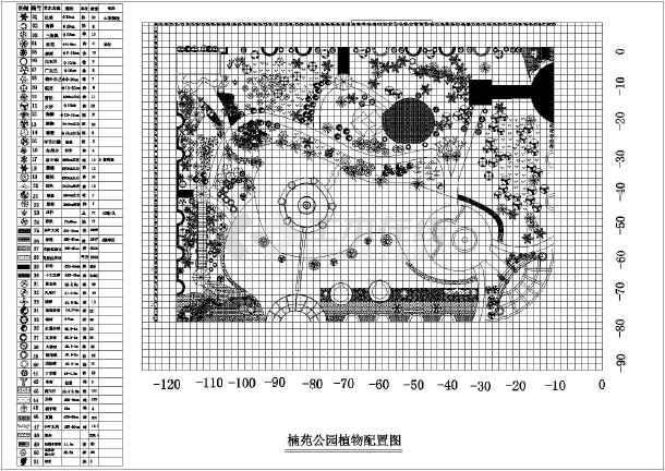 道路植物配置平面图