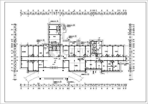 某十三层武警医院住院楼建筑设计施工图图片