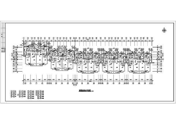 住宅楼给排水设计平面图纸(全套)-图1