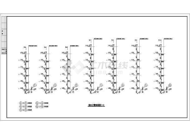 住宅楼给排水设计平面图纸(全套)-图2