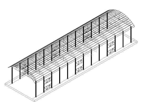 钢结构大棚设计模型图纸cad模型大样图