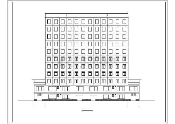 南昌某十一层写字楼建筑,结构设计施工图