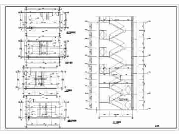 某多层框架房屋楼梯建筑和结构详图