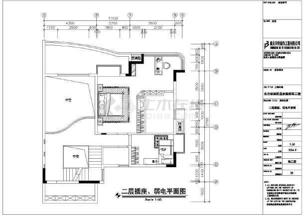 某地框架结构三层跃层住宅装饰设计施工图