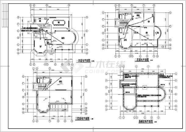某地新农村三层别墅电气设计施工图