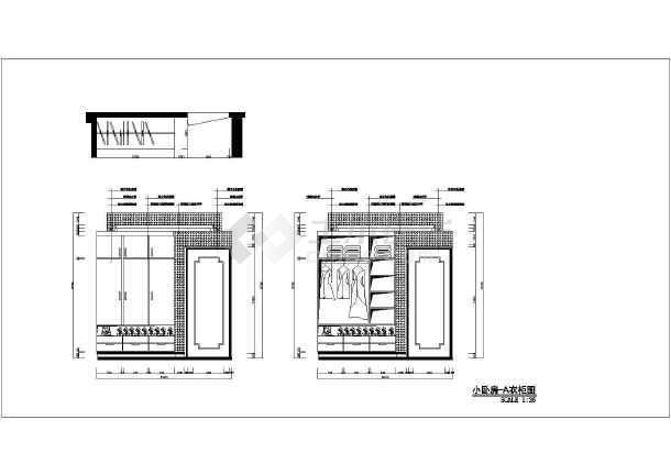 某地剪力墙居室网络(四插口)室内装修设计结构在的方案住宅cad表示图片