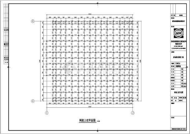 建筑结构图 网架结构图纸 网架穹顶 新地磅区网架工程—正放四角锥