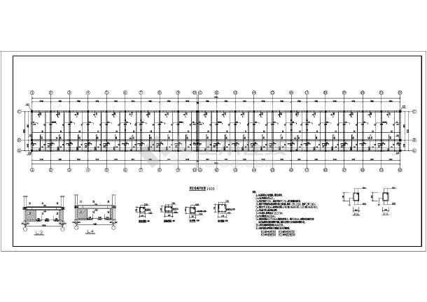 某地3层砖混结构宿舍楼结构施工图纸