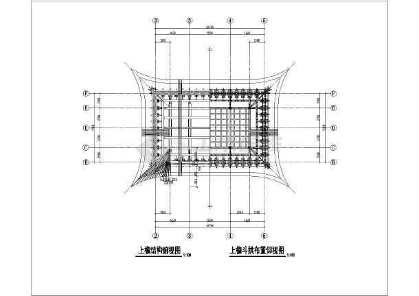 某寺庙木结构三大殿古建筑设计方案图纸