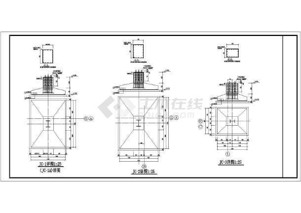 某地三层砖混结构及单层钢结构厂房结构施工图