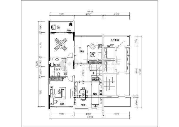 深圳某复式楼室内装修及水电设计施工图