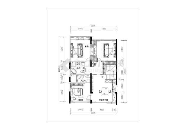 深圳某复式楼室内装修及水电设计施工图_cad图纸下载