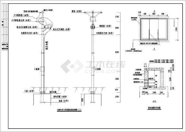 工地临时用电400KVA杆上变压器高低压方案图-图3