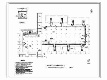 设计 地下车库/某分四个单元分区地下车库通风防排烟设计平面图