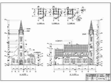 广州市花都区某一层框架结构教堂建筑施工图