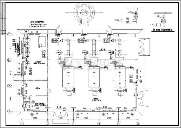 图纸 暖通设计图 供热工程 锅炉房设计施工图 某地燃煤锅炉房动力设计