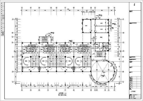 某地区三层框架结构幼儿园建筑设计方案图纸图片