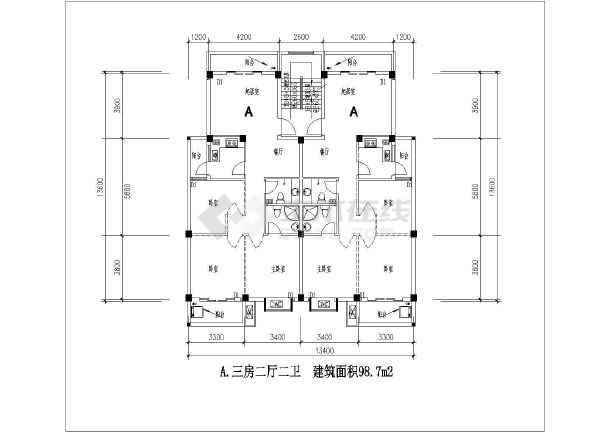 某新光住宅小区20种户型设计平面图